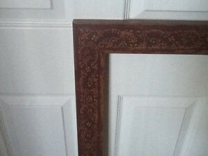 3 custom made large wooden frames