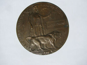 WW1 'He Died For Freedom And Honour' Death Plaque