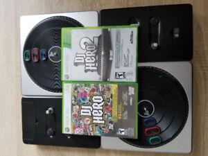 DJ Hero, DJ Hero 2 and 2 turntables