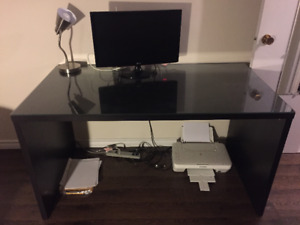 Desk with Glass Top - South End