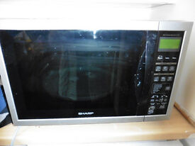 SHARP enormous microwave with convection grill bakes too - cheap!