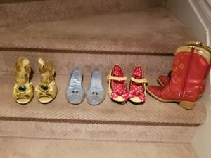 DISNEY - Girl's costume shoes and 1 pair of boots Size 11 - 12