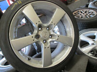 """18"""" MAZDA RIMS AND TIRES 225/45/18 5X114 18X8 +50"""