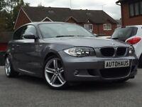 2010 BMW 1 Series 2.0 118d M Sport 3dr FSH + LEATHER + £30 TAX not audi a3 volkswagen golf line gtd
