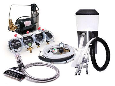 4 Flavor Home Soda Fountain System Soda Gun  Remote Chiller