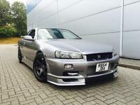 1998 R Nissan Skyline R34 2.5 GTT TURBO Manual + GTR LOOKS
