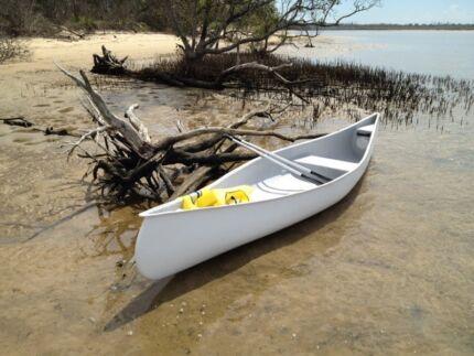 Canoe 4.8M Canadian Touring Canoe. Fibreglass Australian Made. Coomera Gold Coast North Preview