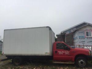 FORD F450 DIESEL TRUCK WITH CUBE BOX