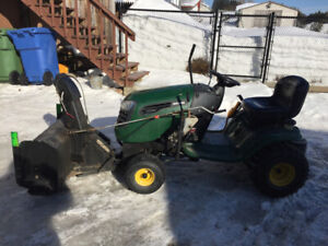 Tractor and snowblower