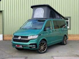 """VW T6.1 Bay leaf Green Camper Van, Brand New Campervan Conversion 20"""" Alloys"""