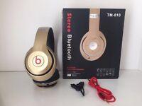 Dr Dre Beats Wireless Headphones Gold