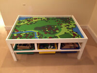Table (for Lego or Train Sets) and Storage Bins