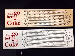 Coke theme Cribbage Board - custom