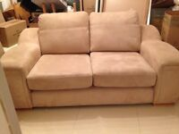 2x2 seater couches in suede effect fabric