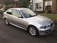 BMW 3 SERIES COMPACT. MOT AUGUST 2017