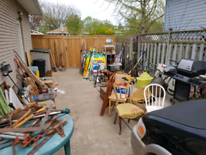 Huge yard sale. New items every weekend. Sat may 26th