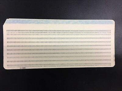 50X Ibm Brand Punch Card Vintage 5081
