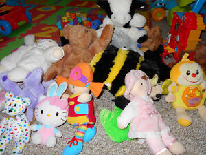 Stuffed animals and CDs for sale!