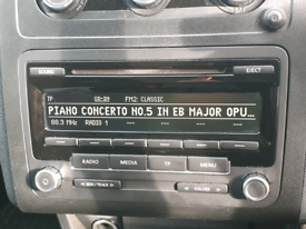 Genuine vw stereo double din volkswagen caddy golf passat t5 t6