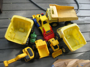 Lot of working vehicles