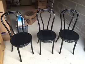 Black French Café style dining chairs