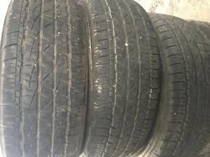 4x 265/65/r17 firestone destination LE2 tires