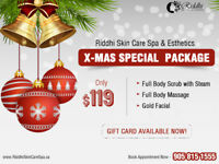 Gift Card Deal-Facial+Full Body Scrub+Steam+Massage in 119$ ONLY