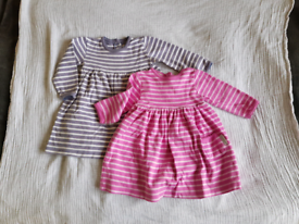 2 Jojo Maman Bebe 6 to 12 / 6-12 months baby clothes clothing dresses
