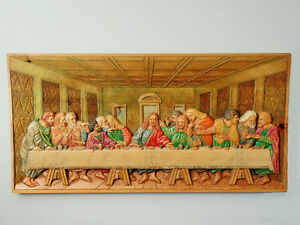 "WOOD CARVING MURAL ""LAST SUPPER'' West Island Greater Montréal image 1"