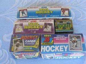HOCKEY FACTORY SETS (5) BOWMAN,SCORE,OPC PREMIER -BOOKS AT $90