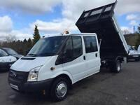 2013 (13) FORD TRANSIT 350 ONE STOP DOUBLE CAB ALLOY TIPPER