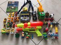 Bundle boys toys cars/water gun/minions/trucks/smurfs job lot xmas?