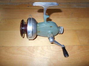 Antique vintage moulinet peche Swiss, Record, fishing reel