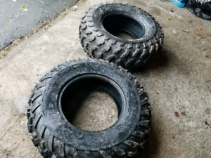 3 trailwolf atv tires ( one 25 x 8 x 12 and two 25 x 10 x12)