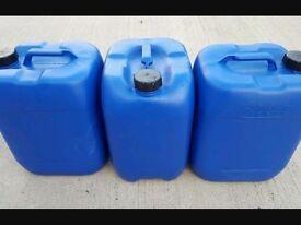 Blue 20l jars