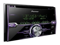 Pioneer FH-X720BT Double Din CD MP3 Car Stereo Bluetooth USB iPod