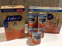 Enfamil A+2 (1 powder bag sealed and 5 cans) Baby/toddler