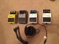 Boss effects pedals for sale just reduced
