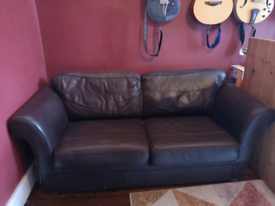 Comfy 3 seater leather sofa