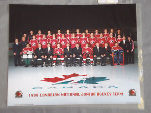 """8"""" by 11"""" photo of 1999 Canadian National Junior Hockey Team"""