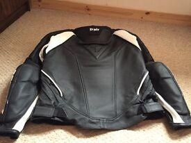D Air leather biker jacket