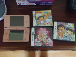 Nintendo DS XL and 3 games