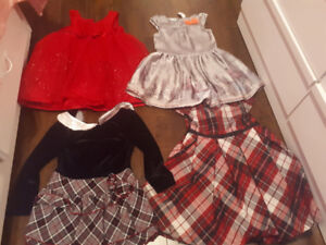 Girls Christmas dresses size 3