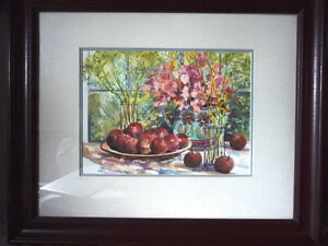 "Morning Harvest, ""Apples on a Large Plate"" by Nell LaMarsh, 1994 Stratford Kitchener Area image 1"