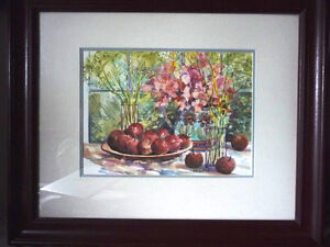 "Morning Harvest, ""Apples on a Large Plate"" by Nell LaMarsh, 1994"