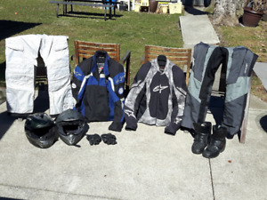 Motorcycle riding gear - sets or separate items