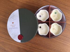 Saje 'Precious Glow' gemstone candle set, New in box