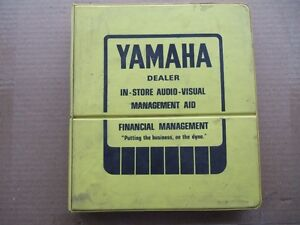 VINTAGE YAMAHA DEALER MANAGEMENT AID