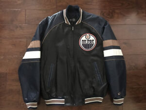 Edmonton Oilers Leather Jacket