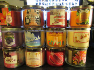 NOW MORE! 40 LIKE NEW BATH & BODY WORKS 3 WICK CANDLES 3 for $25
